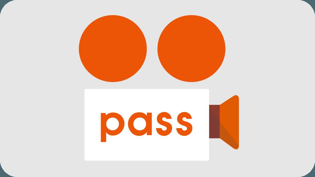ビデオパスのロゴです。